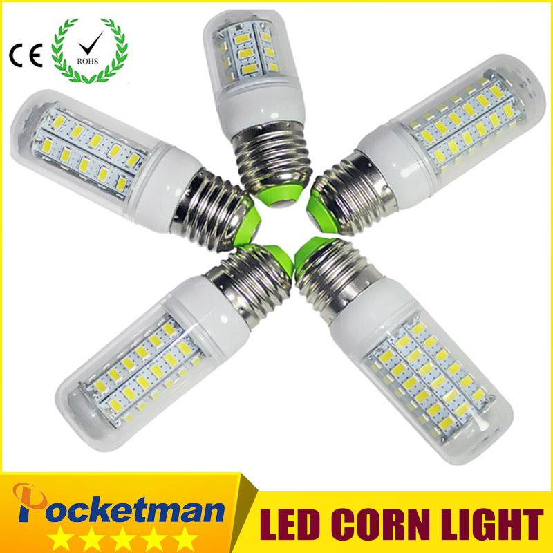 LED Corn Bulb Light E14 E27 Lamp 5730 SMD Corn Bulb E27 110V 220V LED Bulb 24LED 36LED 48LED 56LED 69LED SMD5730 light(China (Mainland))