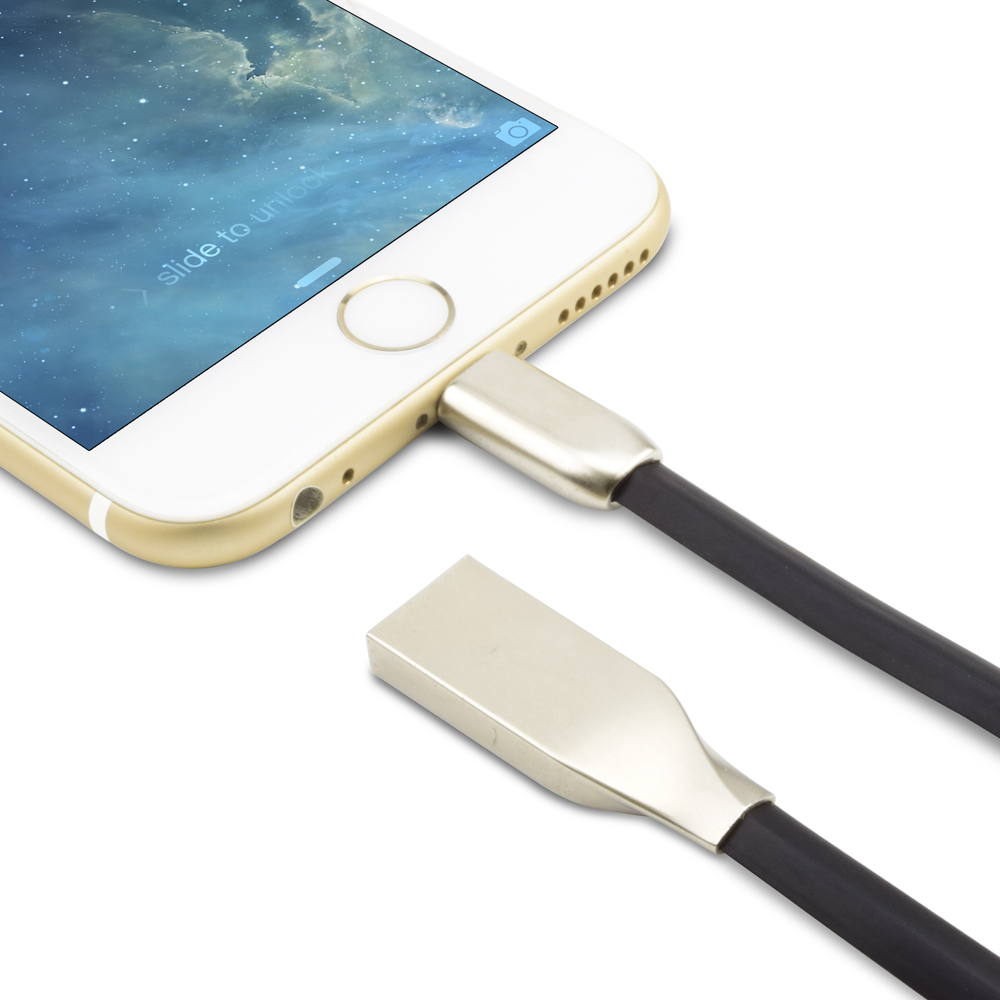 Zinc Alloy i6 Data Phone Cable For iPhone 7 6 6s Plus SE 5, USB Charger For iPad Mini 2 3 4 Air 2 iPod nano 6 7 Lightning Cable(China (Mainland))