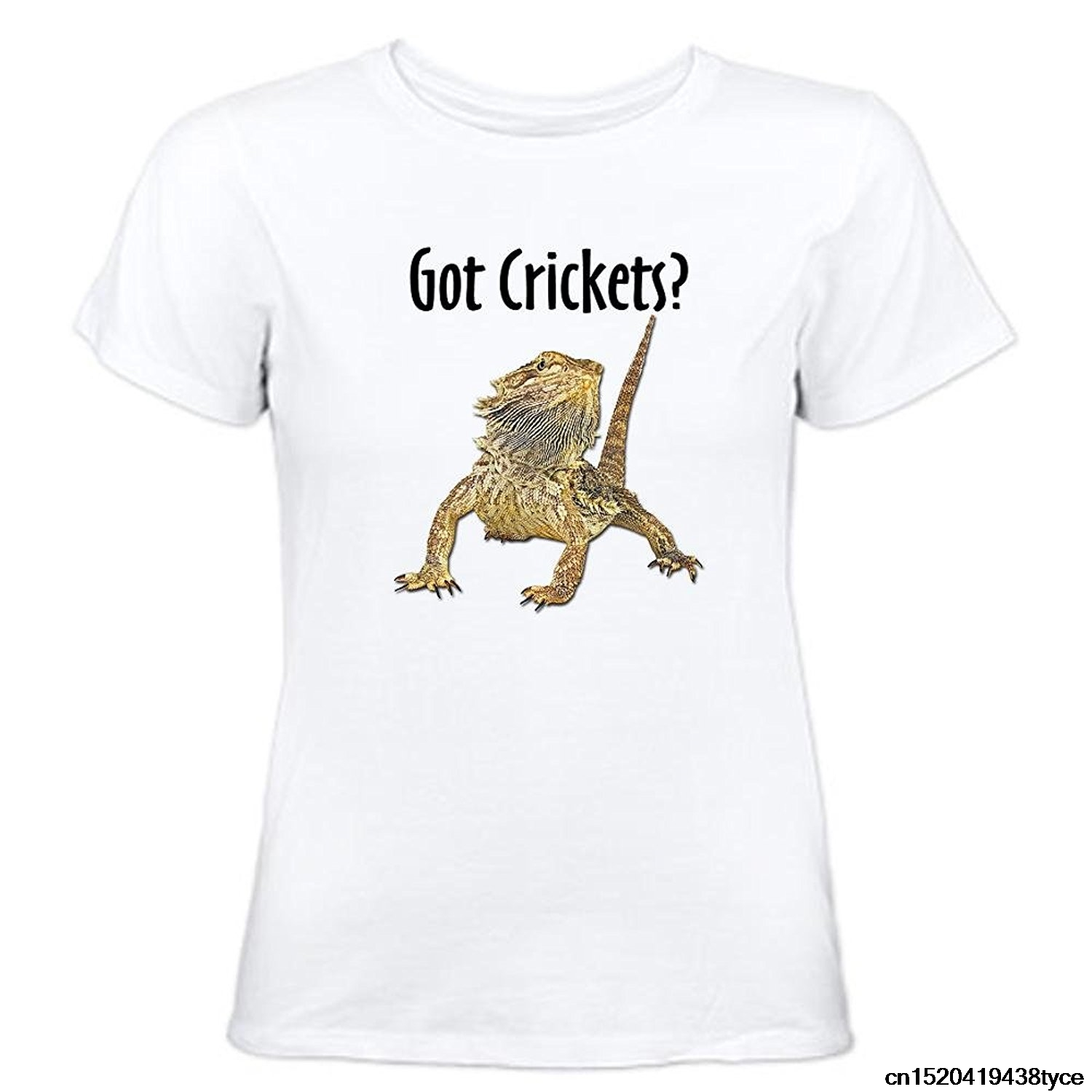 Jzecco 2017 New Arrival Bearded Dragon Got Crickets Women's Comfortable & Soft Classic Tee Cotton O-neck Short Sleeve Tops Tee