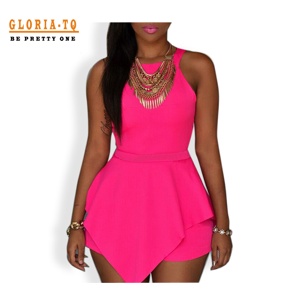 Pure Color Pink Black Sexy Mini Dresses 2016 Women Short Summer Dress Party Club Zipper Up Summer Dress Backless Cut Out Dresses(China (Mainland))