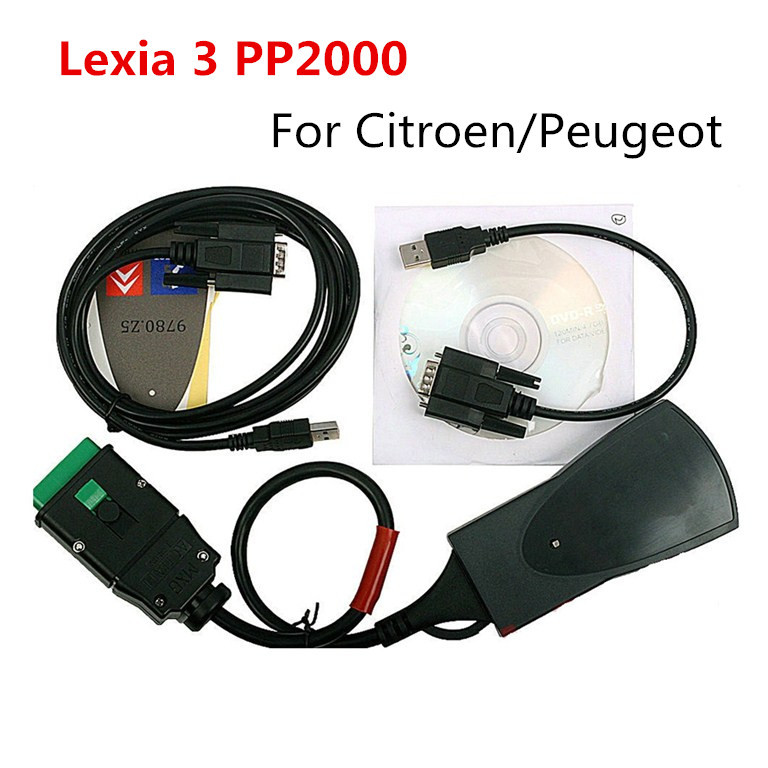 Free DHL shipping TOP Quality lexia3 pp2000 for Citroen Peugeot Diagnostic Tool pp2000 lexia 3 diagbox with best price(China (Mainland))