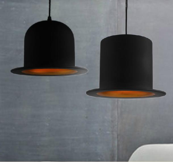 England Fedoras hat pendant lights dome flat restaurant aluminum Hat light Pendant Lamp for Coffee shop Bar modern lamp design(China (Mainland))