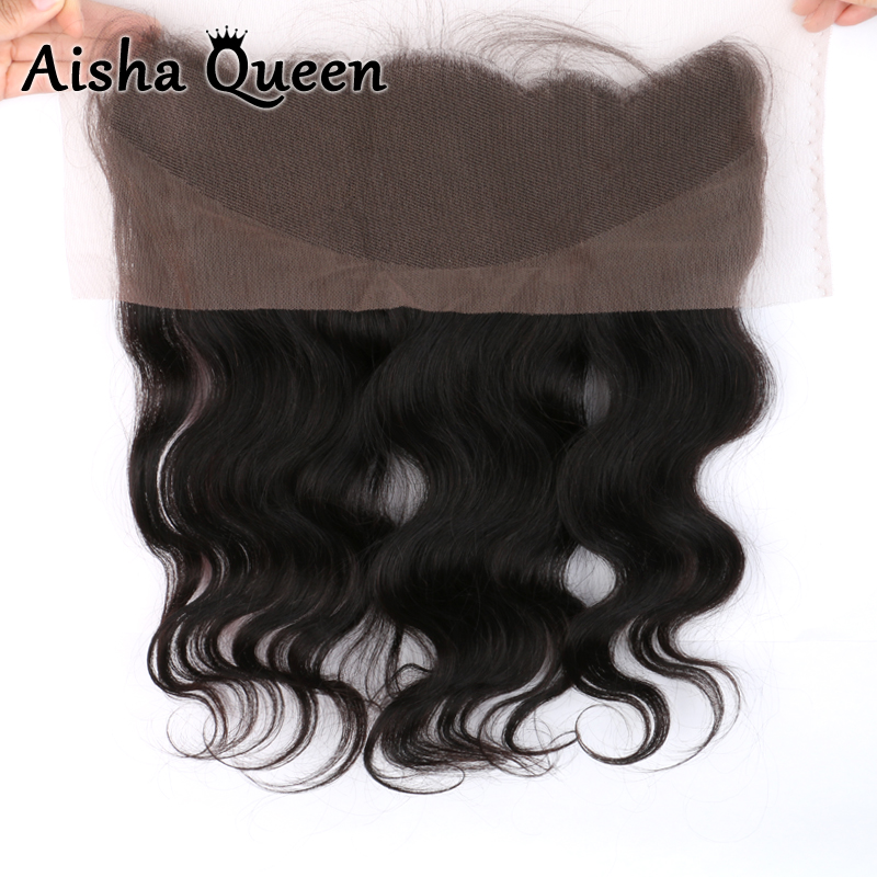 Фотография 8A Human Hair Brazilian Lace Frontal Closure 13x4 With Baby Hair cheap Virgin Body Wave full Lace Frontal ear to ear closure