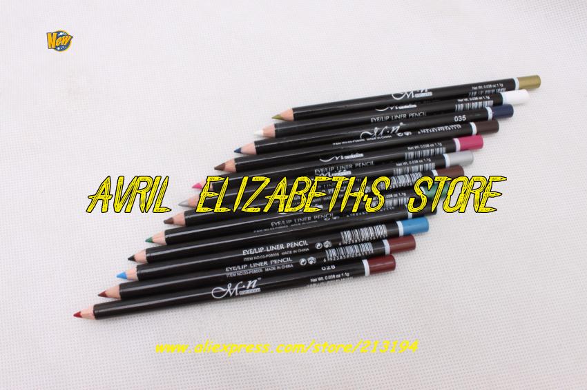 M.N 12 Colors Eye Make Eyeliner Pencil Waterproof Eyebrow Beauty Pen Liner Lip sticks Eyes Makeup 60Bag/Lot - Avril Elizabeth's Store store