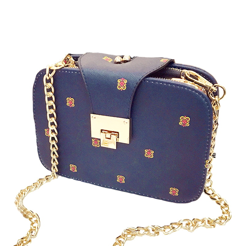 2016 New arrival fashion brand design chain bag PU leather messenger bag all-match women bags trendy cross-body bags WLHB1329(China (Mainland))