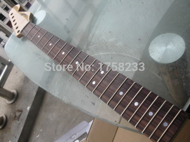 2019 Free Shipping best guitar custom shop 21 fret diy electric guitar kit rosewood telecaster neck stratocaster deluxe(China (Mainland))