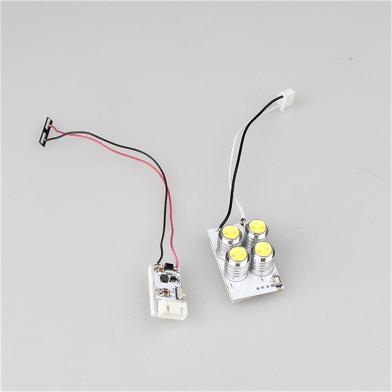 Ultra Bright Four Headlights Bead Head Lamp Reduction Voltage Module For DJI Phantom 3 RC Quadcopter Spare Parts
