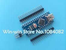 Freeshipping ! 10PCS Nano 3.0 controller compatible with arduino nano CH340 USB driver NO CABLE(China (Mainland))