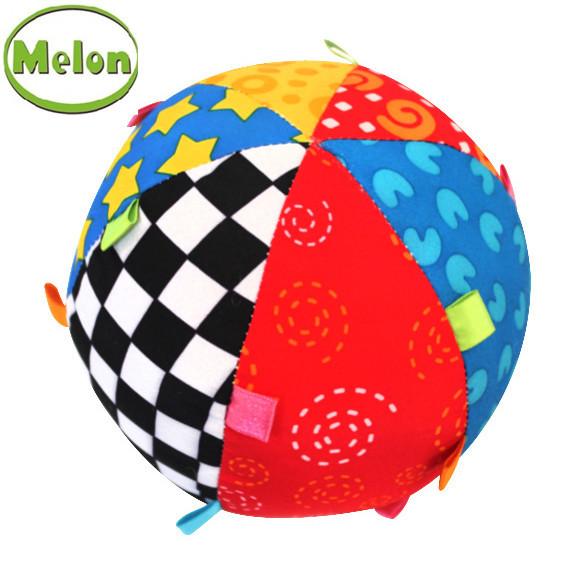 Squishy Baby Ball : Melon High Quality Baby Toy Music Rattles Soft & Safe Infant Playmobil Soft Ball Newborn ...