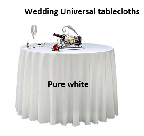 Hotel Universal Supplies Custom Size Round Tablecloth Pure white table cloth for christmas/Party/home/hotel/wedding decoration(China (Mainland))