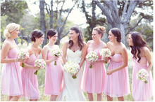 Buy 2016 Pleat Short Bridesmaids Dresses Pink Shoulder Short Wedding Party Dress pink Bridesmaid Dress for $65.55 in AliExpress store