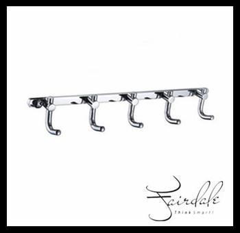 FREE SHIPPING Bathroom accessories/kitchen furniture Decorative  Chrome  wall  Robe Hook (5 hooks)  coat hooks