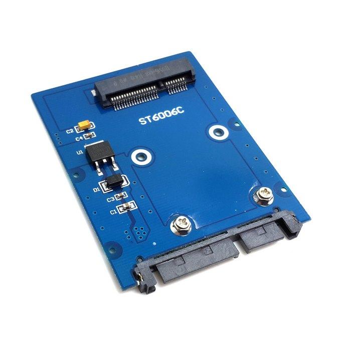 """Brand New Slim Type Mini PCI-E mSATA SSD to 2.5"""" SATA 3.0 22pin HDD Adapter Hard Disk PCBA SA-166(China (Mainland))"""