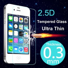 Ultra Thin Tempered Glass Screen Protector Case For iPhone 4 4S 5 5S 5C 6S 6 Plus Cover Phone Cases For Apple iPhone 4S 4 Case