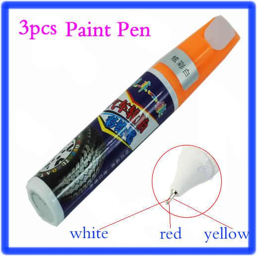 Бесплатная доставка 3 шт. автомобиль мотоцикл протектора маркер краска рисование отметить пера 3 цветов