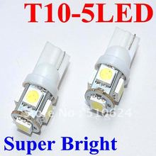 100pcs/lot T10 White Auto Globe/Lamp 5led W5W 5smd 5050