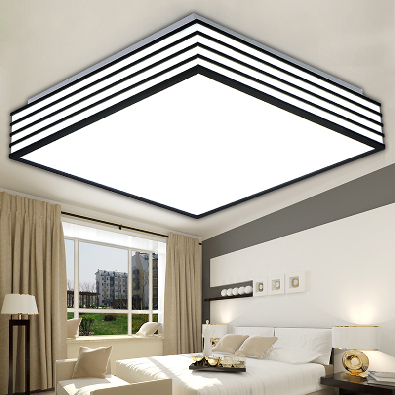 Square modern Led Ceiling Lights living lamparas de techo light fixtures bedroom led kitchen lamp moderne luminaire<br><br>Aliexpress