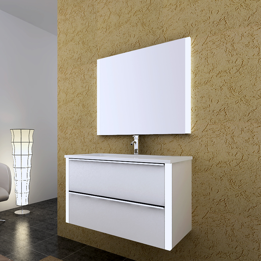 Linkok Furniture Modern 900mm bathroom vanity sets with mirror for house(China (Mainland))