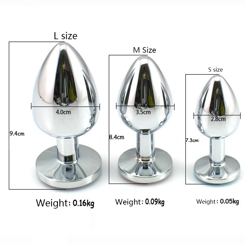 3PCS Small Size Metal Anal Toys Butt Plug Stainless Steel Anal Plug Sex Toys Sex Products