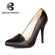 Sexy OL Style Women's  Pumps Pointed Toe Leatherette Upper High Thin Heels Party Pumps Spring Office Pumps Shoes
