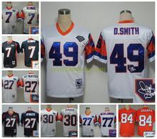 Signature Broncos Peyton Manning,Von Miller,DeMarcus Ware,Demaryius Thomas,Derek Wolfe,Paxton Lynch with the 50th SB patch(China (Mainland))