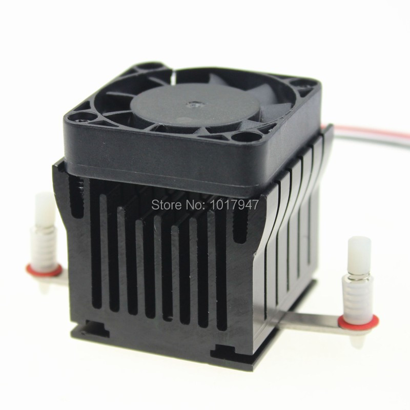 1 Pieces Aluminium Heatsink Fin Cooler W/Fan For PC Northbridge Chipset Cooling(China (Mainland))