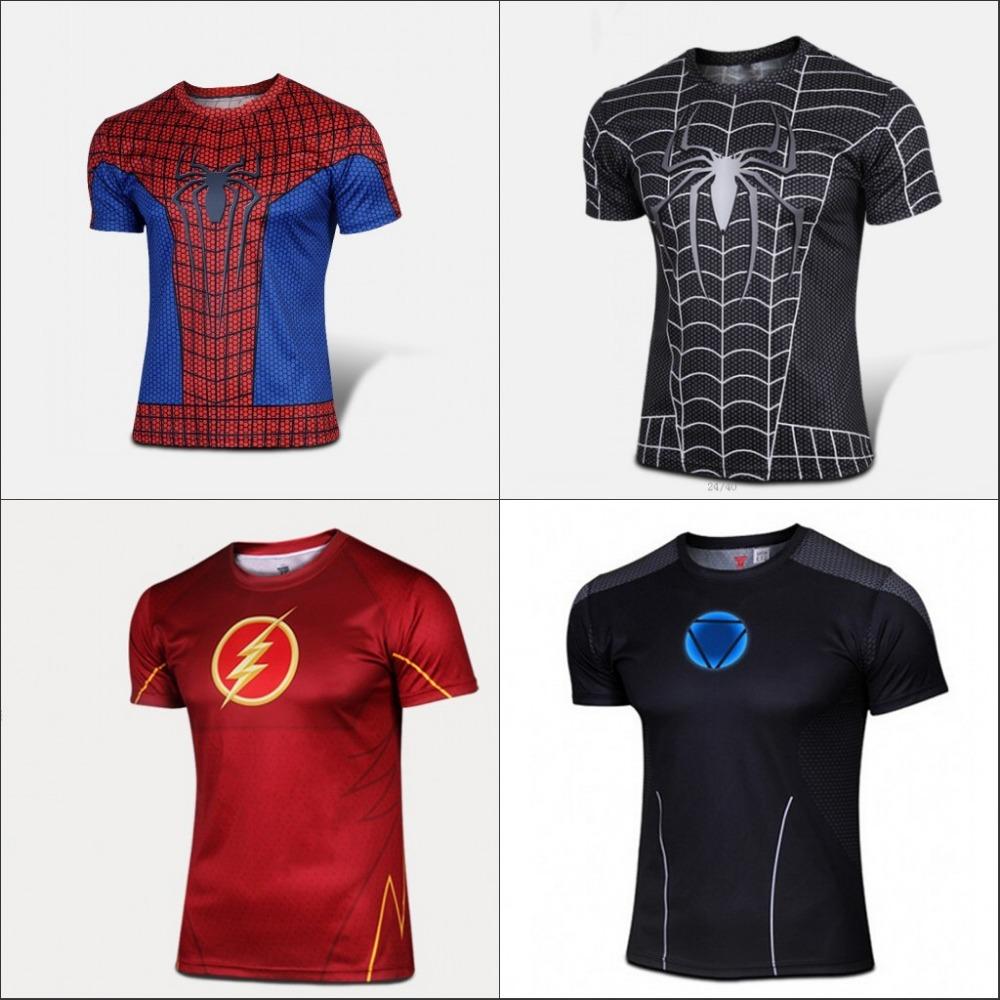 2015 new DC Gookin Yee The Flash Superhero t shirt men costume jersey 3d Short Sleeves Sport Camisetas Quick Drying(China (Mainland))