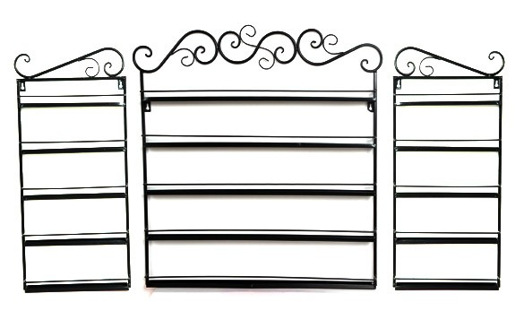 Free shipping 5 Layers Hanging Wrought Iron art Nail Polish Wall Rack Display stand storage Holds shelf hold 170 Bottles 31(China (Mainland))