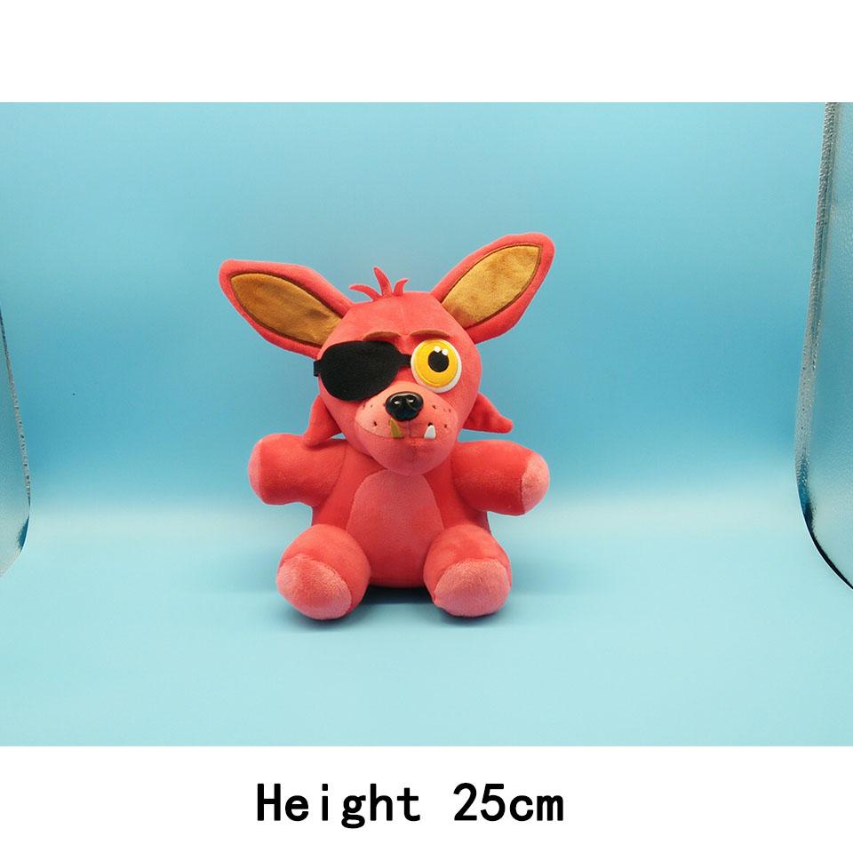 In Stock Official Five Nights At Freddy's 4 FNAF Bonnie Foxy Freddy Fazbear Bear Plush Toys Doll 18cm 25cm Plush Toys Whloease