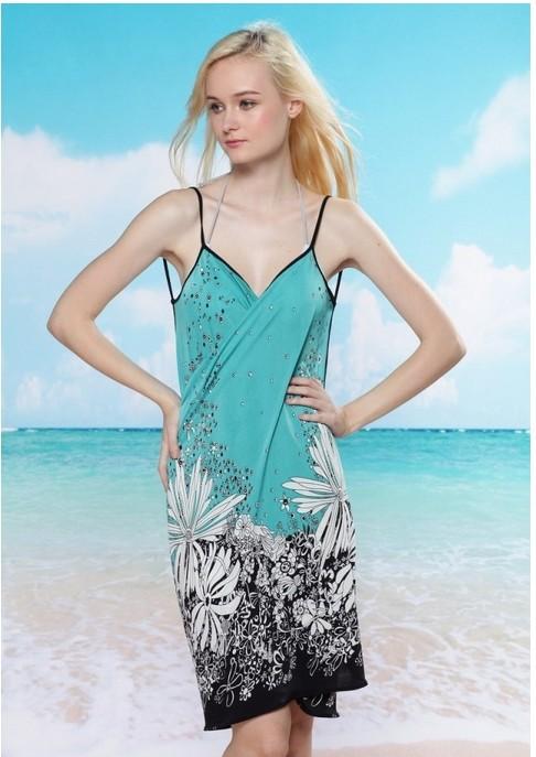 Sexy beach cover up women wear dress women 's sarong ...