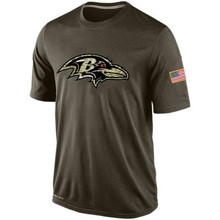 Men Ronnie Kamalei Stanley Correa Joe Justin Flacco Forsett Dennis Tucker Pitta Salute To Service Legend Performance Shirt(China (Mainland))