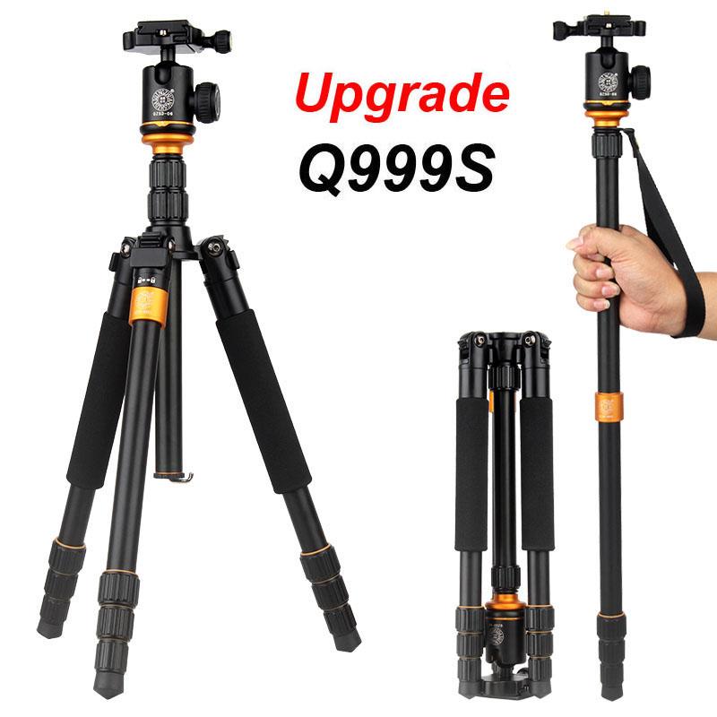 2015 New Upgrade Q999S Professional Photography Portable Aluminum Ball Head+Tripod To Monopod For Canon Nikon Sony DSLR Camera(China (Mainland))