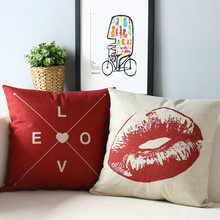 Lips and love Pillow Cushion