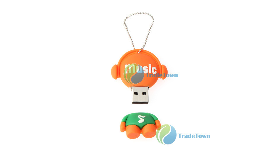 tradetown Robot Style USB Flash Jump Drive (4GB) 24 hours dispatch(China (Mainland))