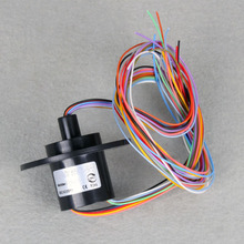 22mm 6*2A(6 Wires,2 amps)6 Conductors Capsule Slip Ring 220V AC 250Rpm 5PCS/Lot#DD234(China (Mainland))