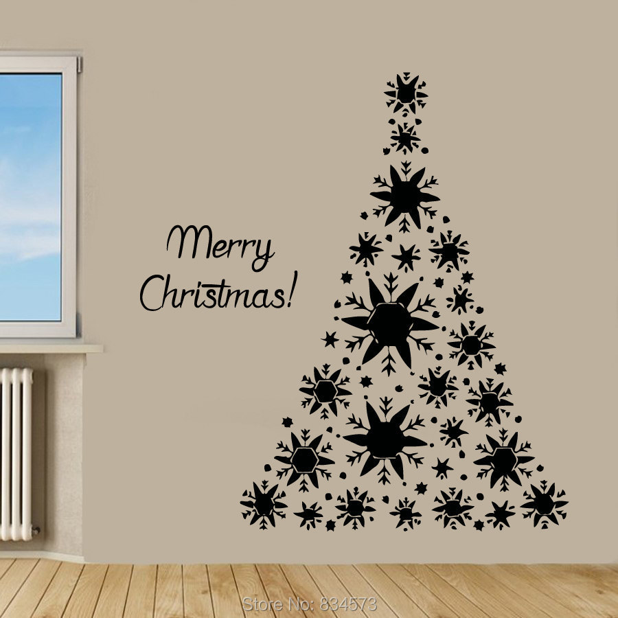 Liamaria Christmas Tree Wall Decoration : Decals bicycle picture more detailed about merry