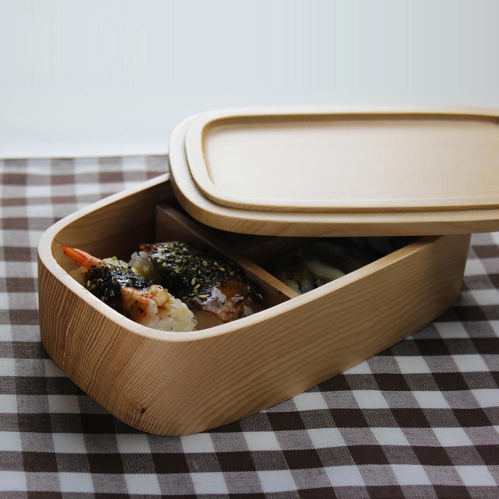 japanese style zakka wood portable travelling lunch box handmade natural wooden sushi bento box. Black Bedroom Furniture Sets. Home Design Ideas