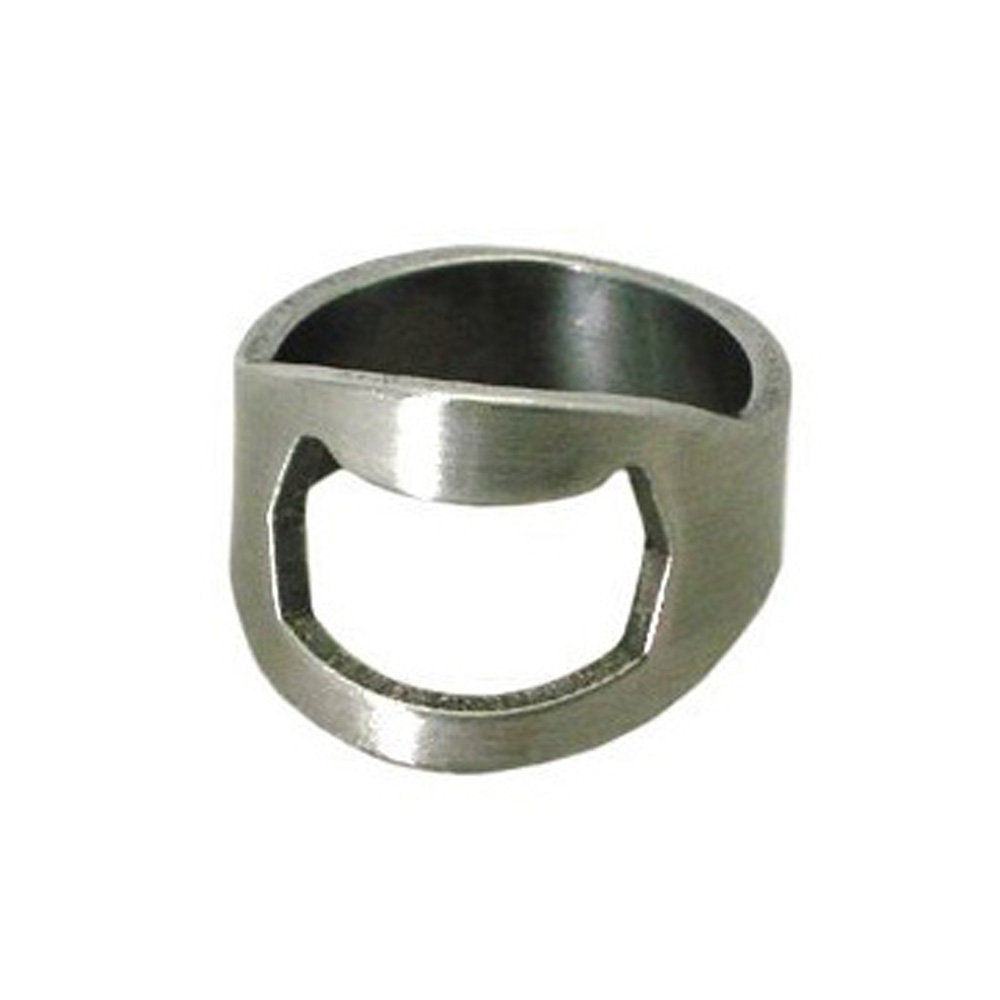 USA Delivery New Silver stainless steel Finger Ring Beer Bottle cap Opener,Bottle Opener Ring(China (Mainland))
