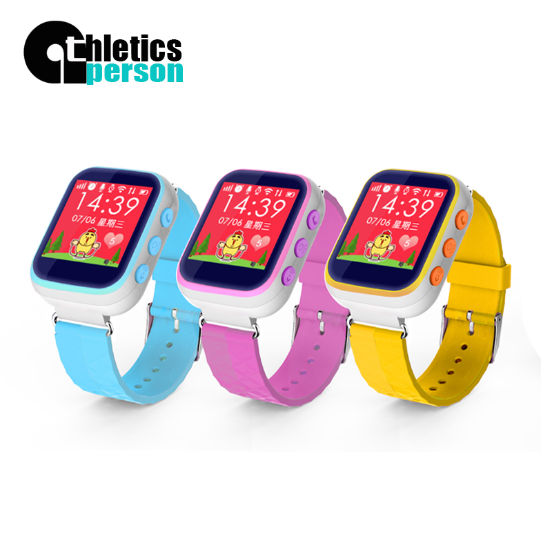 Athletics person A3K 2016 Kid Children GPS Tracking Movement Smart Watch Wristwatch SOS Call Location Device Tracker for phone(China (Mainland))