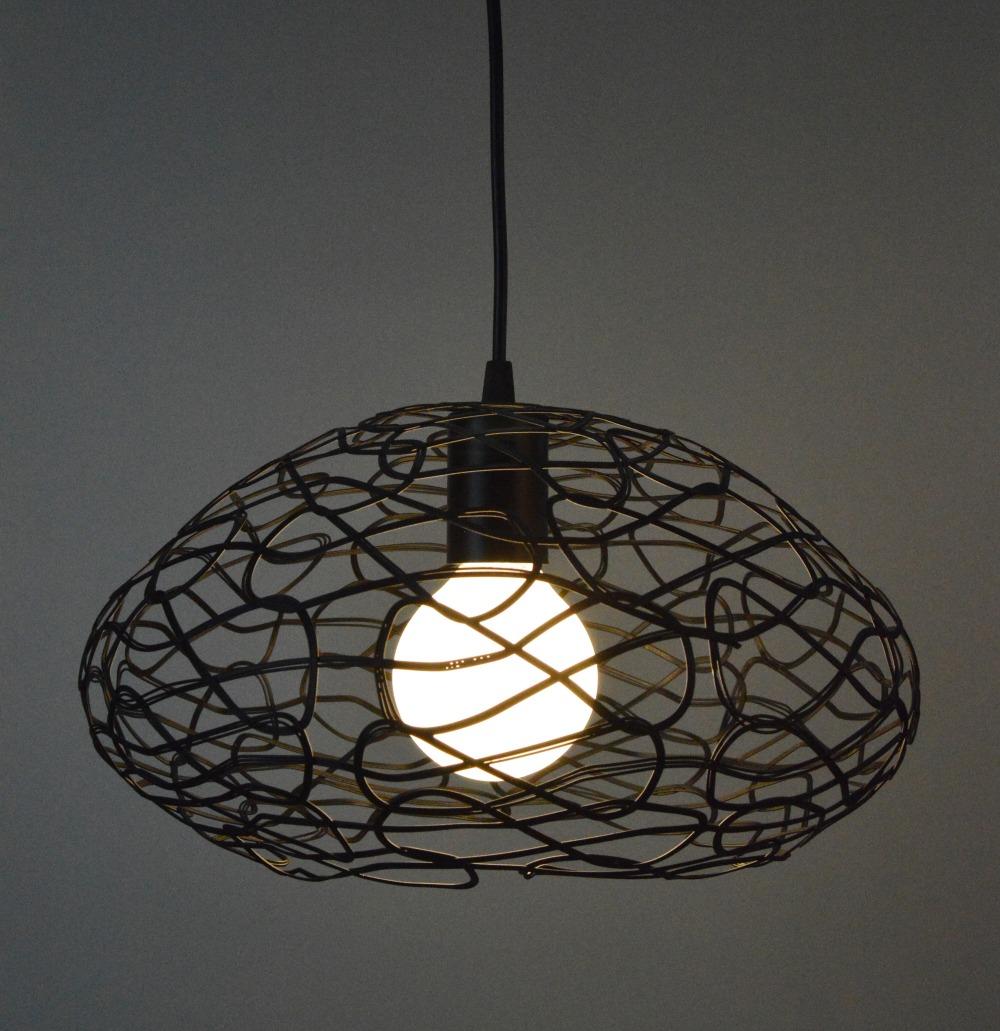 Black Iron Cage Pendant Light Retro Study Bedroom Dinning Room Pendant Lamps Home Decor Lighting<br><br>Aliexpress