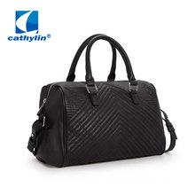 2015 New Fashion Bowling Bag Bolsas Femininas Handbag Bag Wemen Brand New Black Shoulder Bags Lady Roomy Messenger Bags