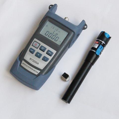 FTTx fiber optical test tools,Optical power meter + 5KM red laser light pen (10km~25km price higher)(China (Mainland))