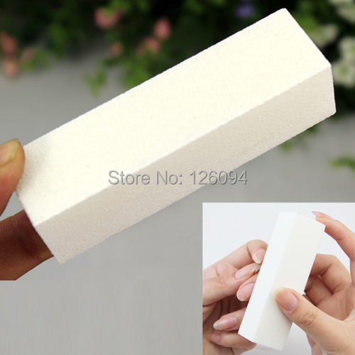 1PCS X White Nail Art Poilish Gel Buffing Sanding Files Buffer Block Remove Smooth Shine Buffer Tools(China (Mainland))