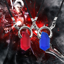 Buy Trendy Anime Game Necklace Cosplay DMC Devil May Cry 5 Necklaces Crystal Unisex Dante Pendants Rope Chain Necklaces Colar for $1.09 in AliExpress store