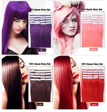 Wholesale Brazilian Tape Hair Extensions 16-24inch 20pcs/lot Tape In Hair Extensions Skin Weft Human Hair Tape In Extensions(China (Mainland))