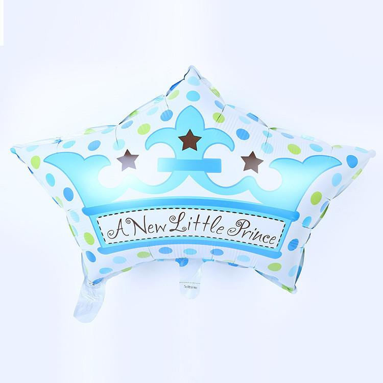 Free shipping 10pcs-lots new export blue pink crown cap aluminum balloons birthday baby full moon party wedding decorations(China (Mainland))