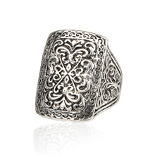 Luxious Fantastic Big Ring Gold And Sterling Silver Vintage Look Indian Jewelry Punk Rock Men Rings For Women