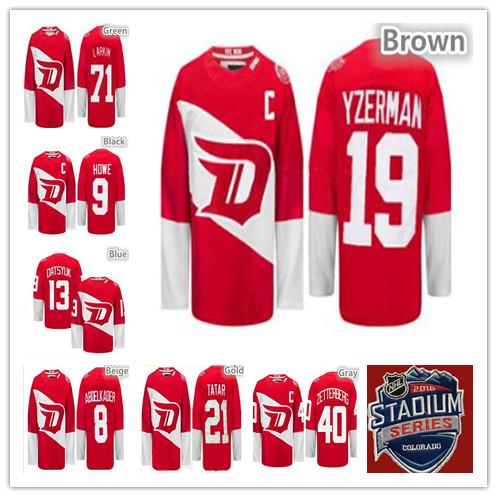 Detroit Red Wings 2016 Stadium Series Hockey Jerseys Ice Dylan Larkin,Pavel Datsyuk,Henrik Zetterberg,Steve Yzerman,Tomas Tatar