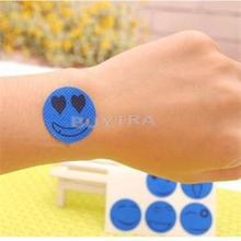 Outdoor Mosquito Repellent Sticker Smile Face Pattern Type Anti Mosquito Sticker Tools for Baby Mosquito Repellent Patch 6PCS(China (Mainland))