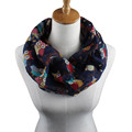 Women Autumn Winter Fashion Elegant design Collar type Scarf Ladies Owl Pattern Print Scarf Warm Wrap
